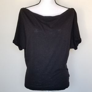 Free people boat / cowl neck Sheer black Small